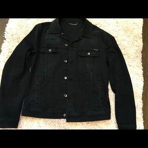 Men's Dolce and Gabbana Blk Denim Jacket sz 54